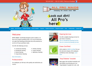Custom Website Design for All Pro Maids