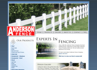 Custom Website Design for Anderson Fence