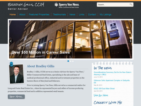 WordPress website design for Bradley Gillis, CCIM