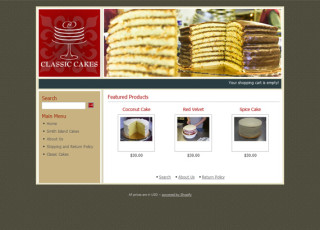 e-commerce website for Classic Cakes