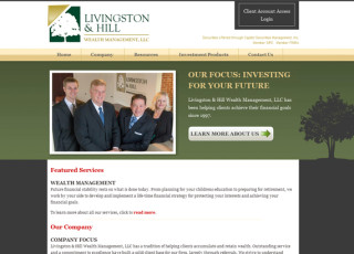Custom Website Design for Livingston & Hill Wealth Management, LLC