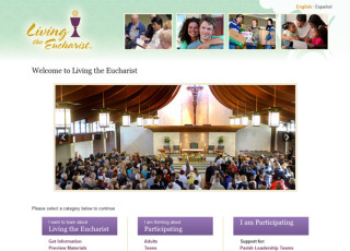 Living the Eucharist website
