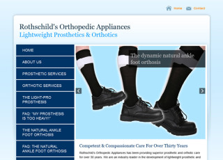 Rothschild's Orthopedic Appliances website