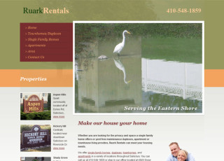 Custom Website Design for Ruark Rentals