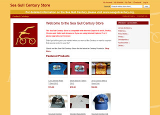 E-commerce website design for Sea Gull Century