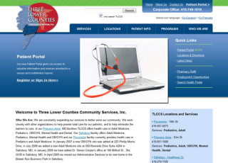 Three Lower Counties Community Services website
