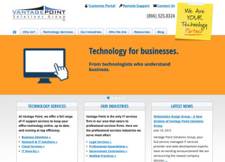Vantage Point Solutions Group website