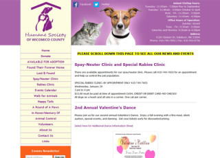 humane society of wicomico county website