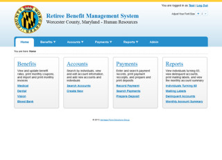 Worcester County Retiree Benefit Management System