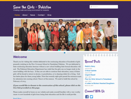 Save the Girls – Pakistan website