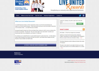 Live United Rewards website