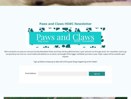 Humane Society of Wicomico County Website Redesign